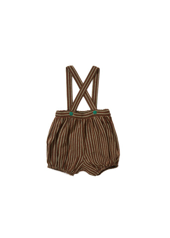 CARAMEL Wilton Romper - Forest Green Stripe