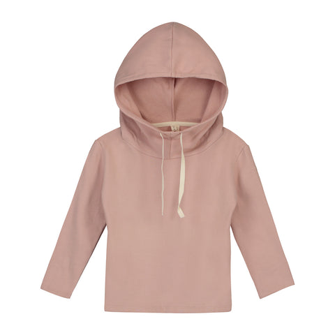 Gray Label Wide Neck Hooded Sweater - Vintage Pink
