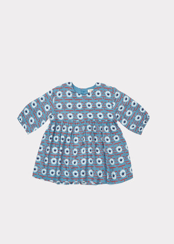 CARAMEL Belvoir Baby Dress - Blue Daisy