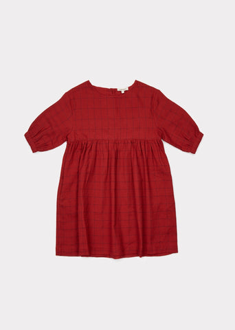 CARAMEL Belvoir Dress - Red Stabstitch