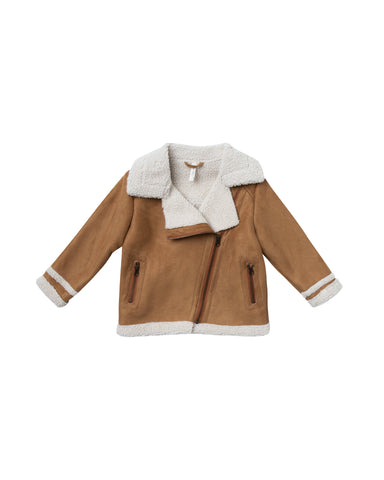 Rylee and Cru Suede Biker Jacket