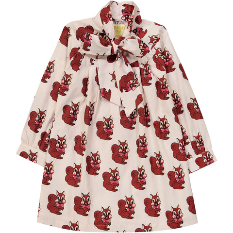 Hugo Loves Tiki Bow Dress - Brown Squirrel