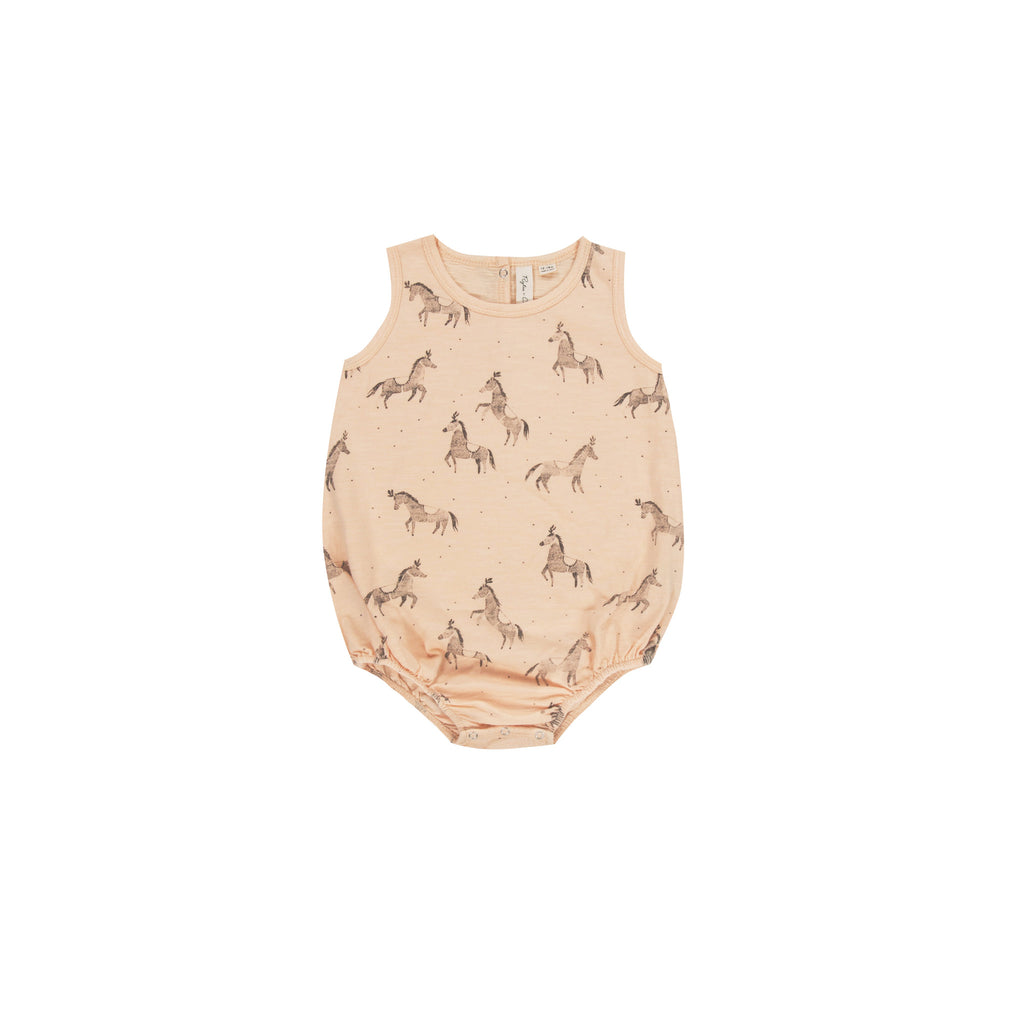 Rylee and Cru Bubble Onesie - Horses