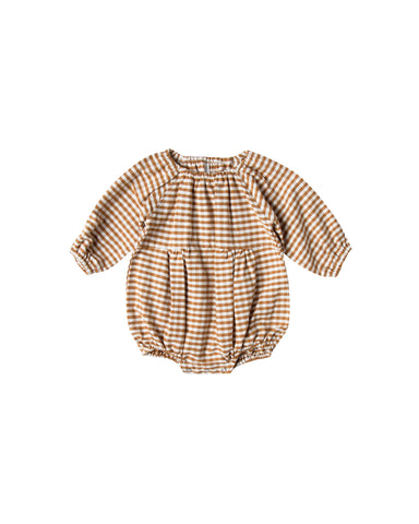Rylee and Cru Bubble Romper - Gingham