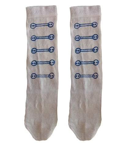 Wovenplay Button Socks - Indigo