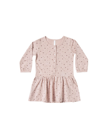 Rylee and Cru Button Up Jersey Dress - Mini Stars