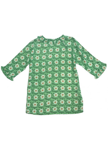 CARAMEL Wressle Dress - Green Daisy Print