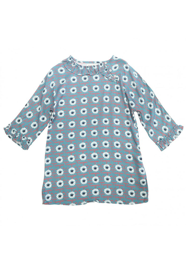 CARAMEL Wressle Dress - Blue Daisy Print