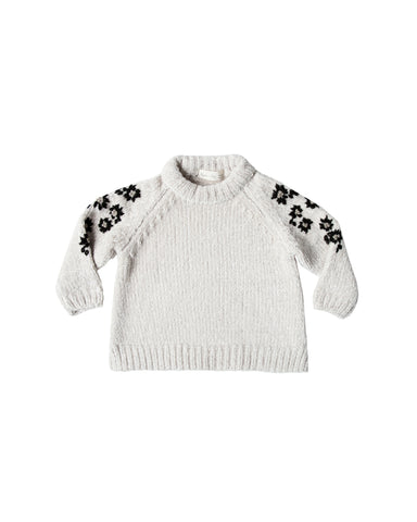 Rylee and Cru Chenille Sweater - Floral Embriodery