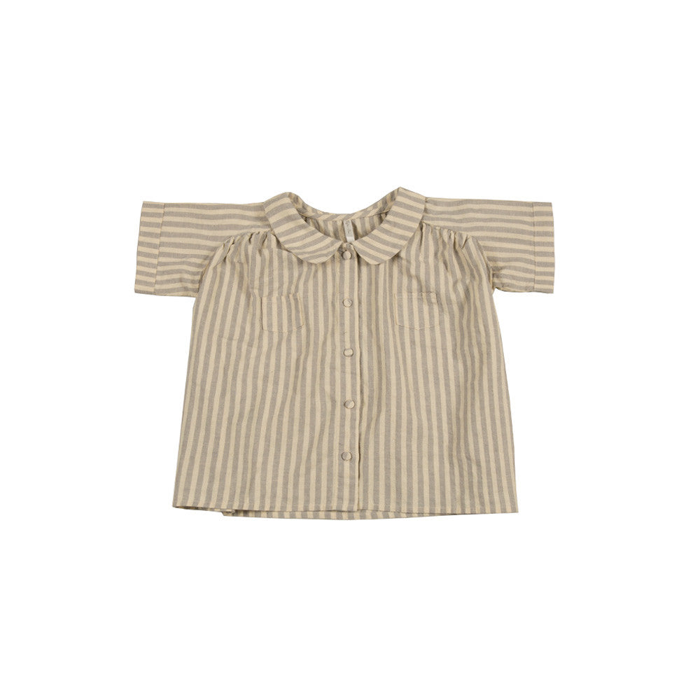 Rylee and Cru Collared Blouse - Stripe