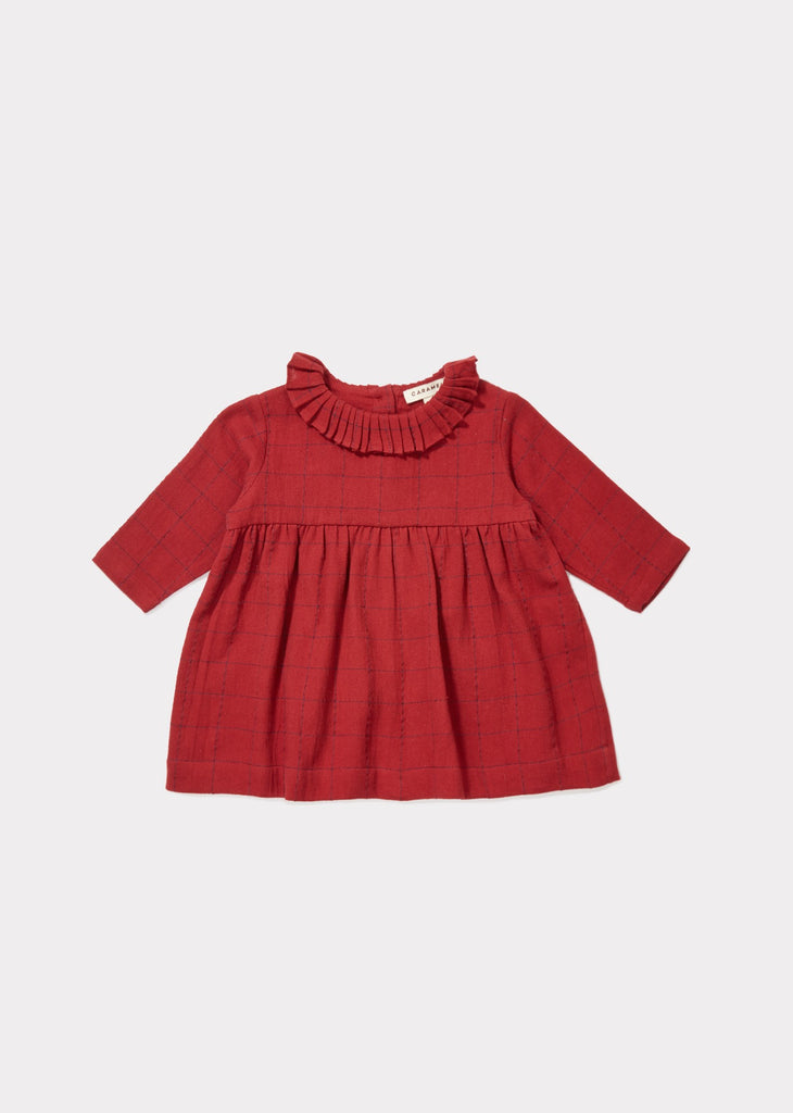 CARAMEL Dilston Baby Dress - Red Stabstitch