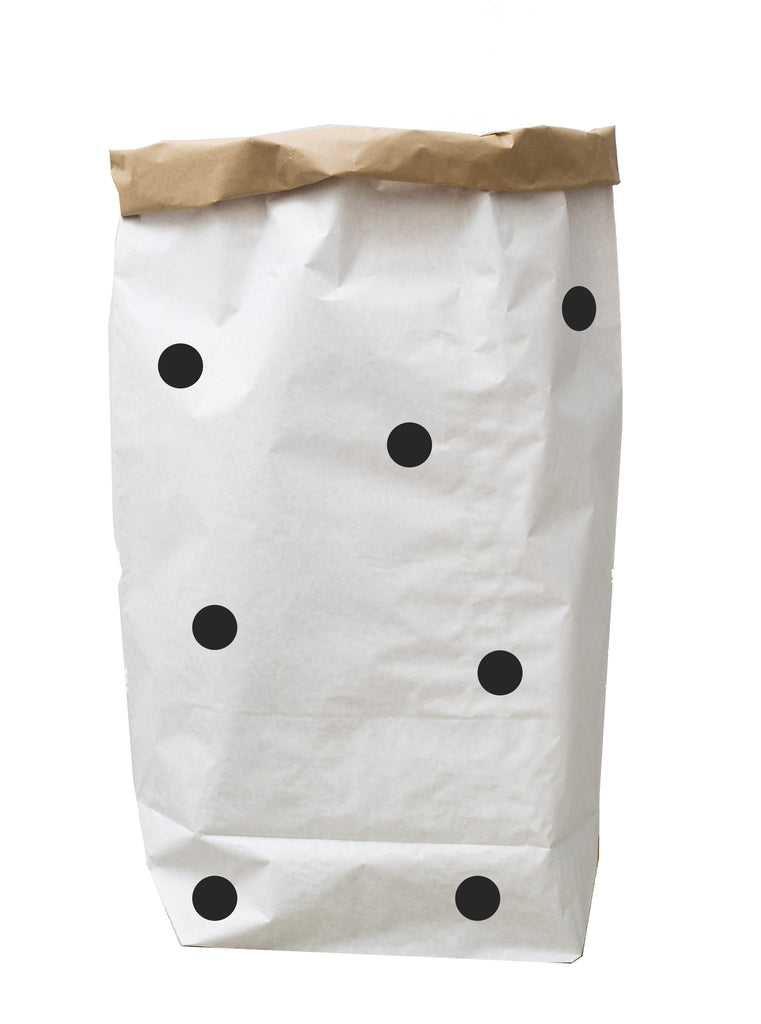 Tellkiddo Paper Bag Storage - Dots Black