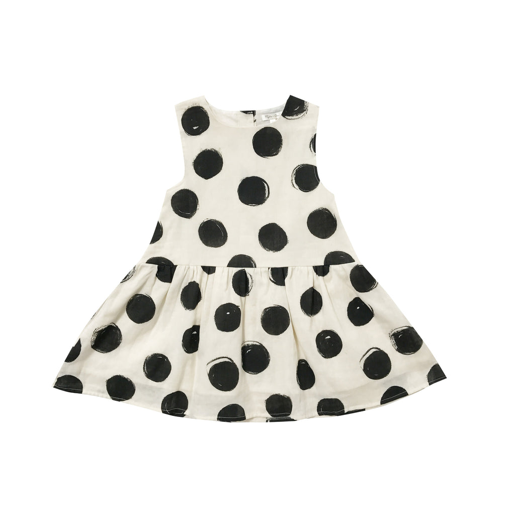 Rylee and Cru Button Back Dress - Dots