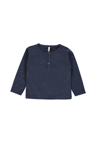 Gray Label Classic Henley Tee - Night Blue