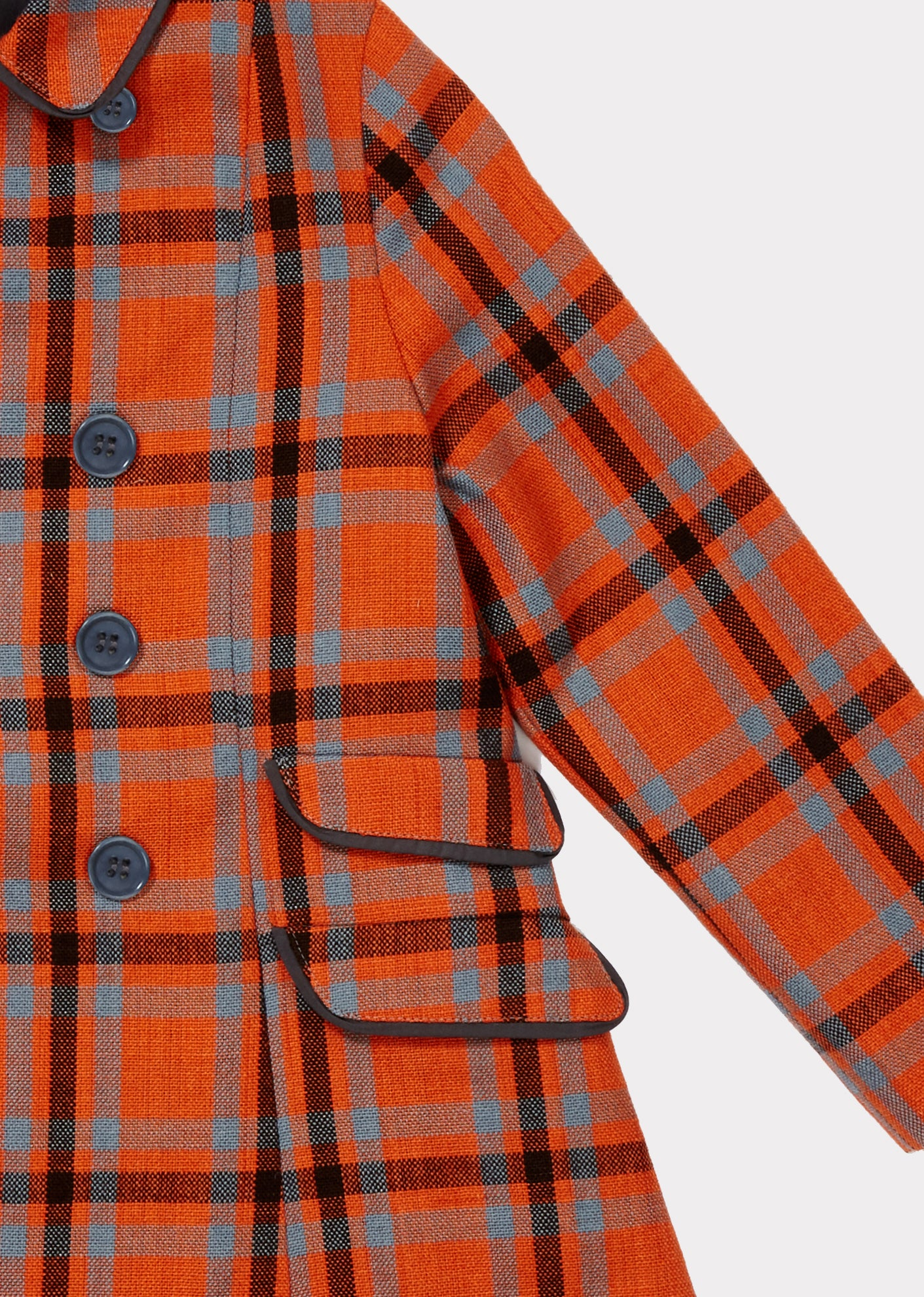 CARAMEL Ladoga Coat - Orange Check