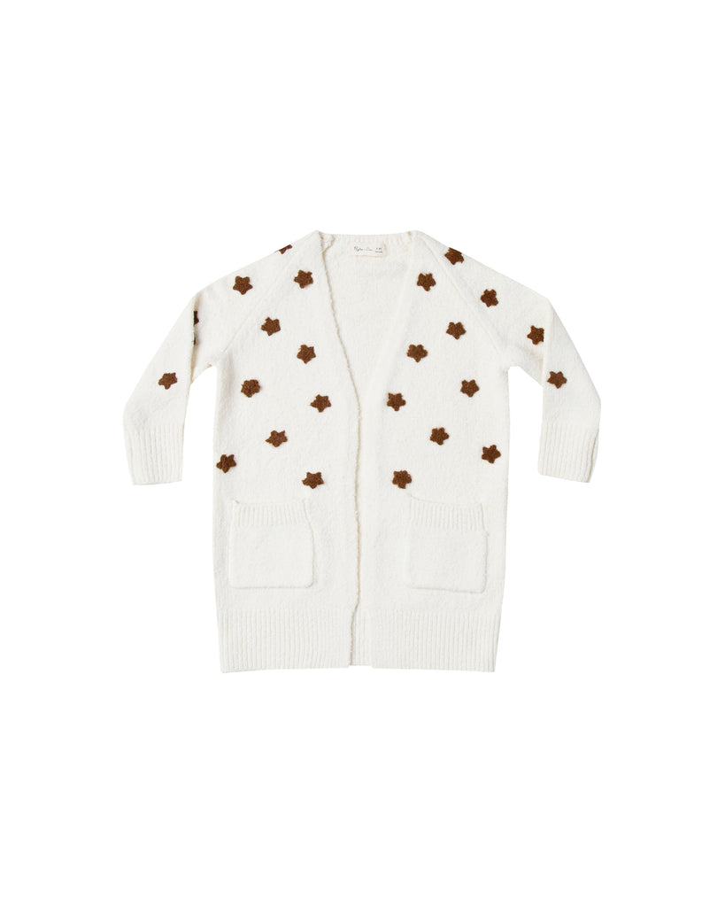 Rylee and Cru Longline Cardigan - Stars