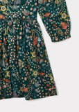 CARAMEL Ludlow Dress - Dark Green Liberty