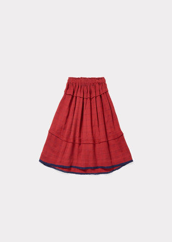 CARAMEL Lumley Skirt - Red Stabstitch