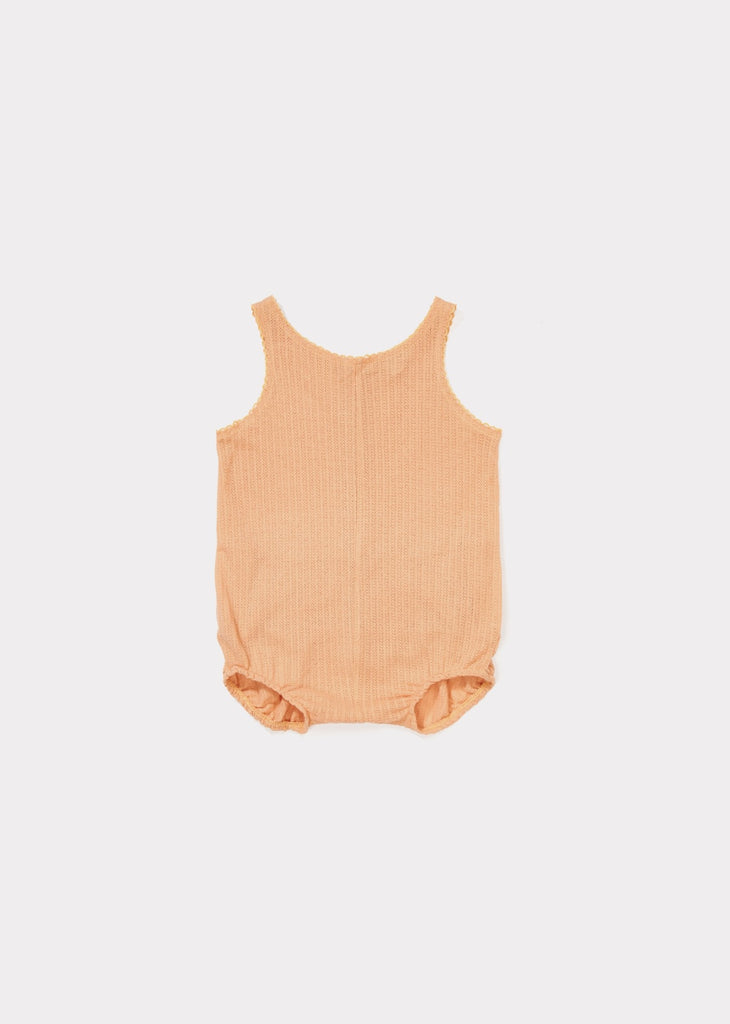 CARAMEL Lunzer Baby Romper - Coral Pink