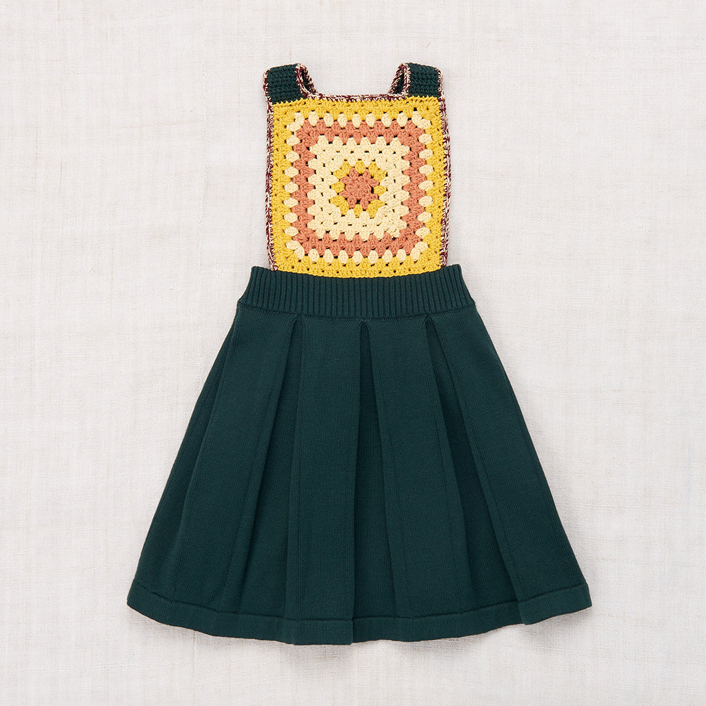 Misha & Puff Eva Apron Dress - Spruce