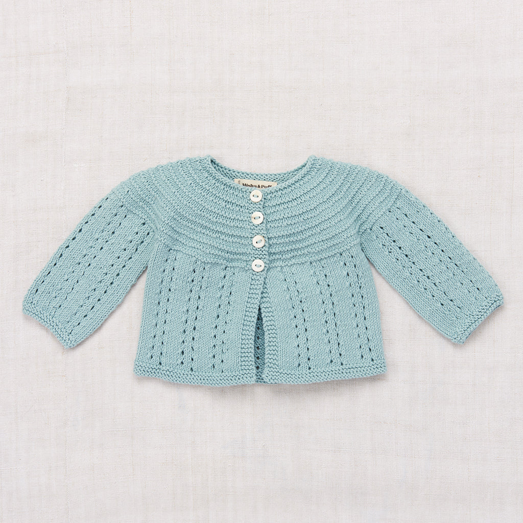 Misha & Puff Pram Cardigan - Faded Indigo