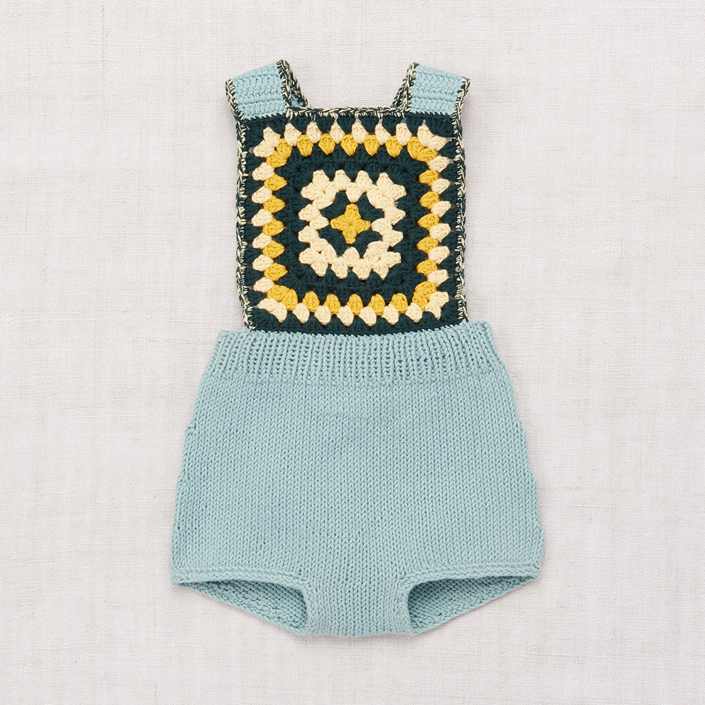 Misha & Puff Sand Castle Sunsuit - Faded Indigo
