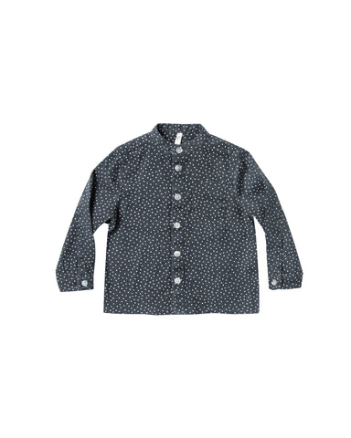 Rylee and Cru Mock Neck Shirt - Dot