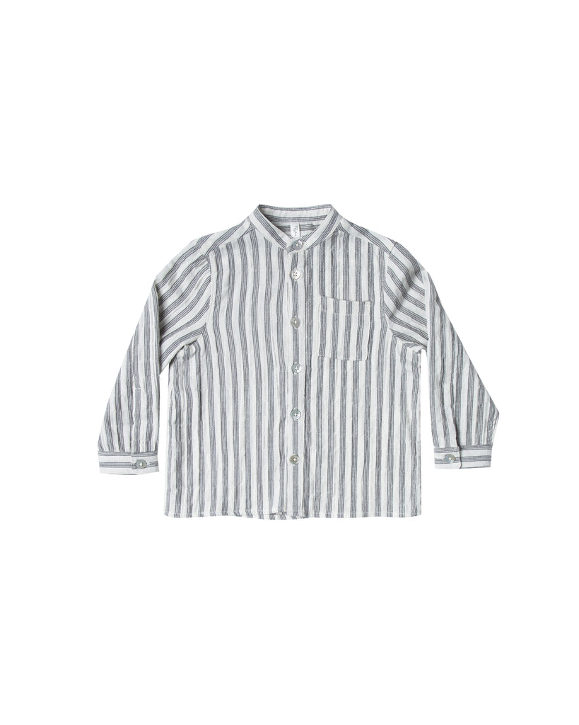 Rylee and Cru Mock Neck Shirt - Stripe