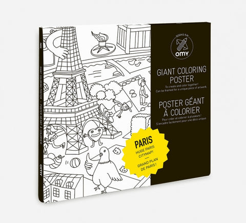 OMY Giant Coloring Poster - Paris Citymap