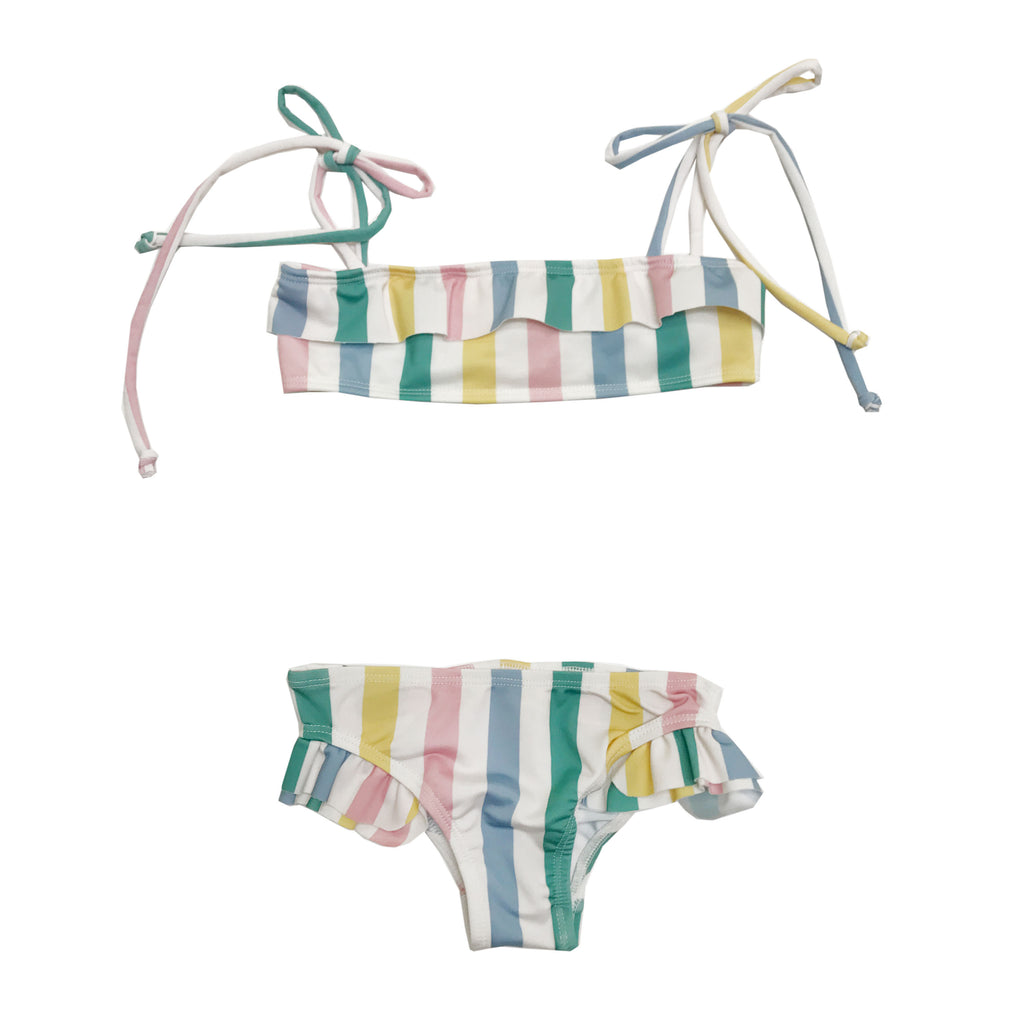 Hugo Loves Tiki Ruffled Bikini - Pastel Stripes