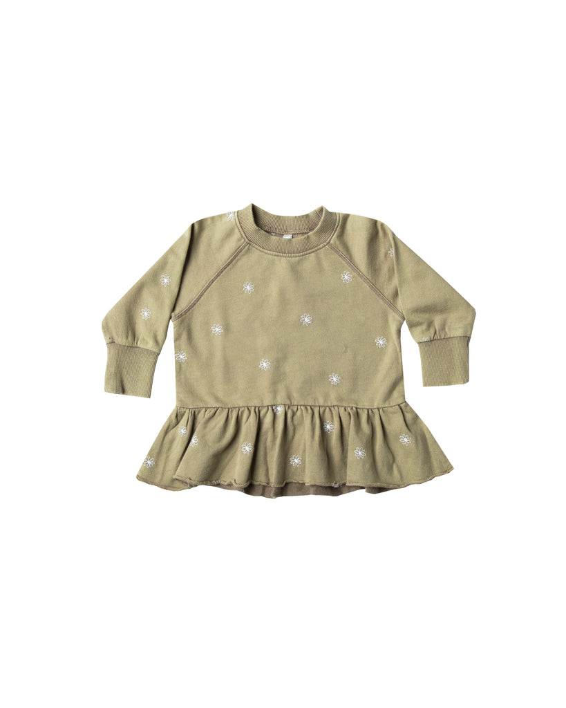 Rylee and Cru Peplum Sweatshirt - Olive