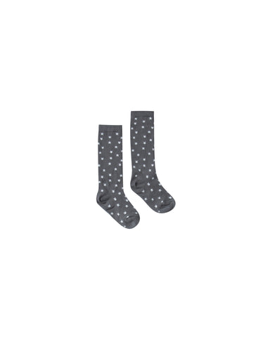 Rylee and Cru Ribbed Ribbed Knee Socks - Star Filled
