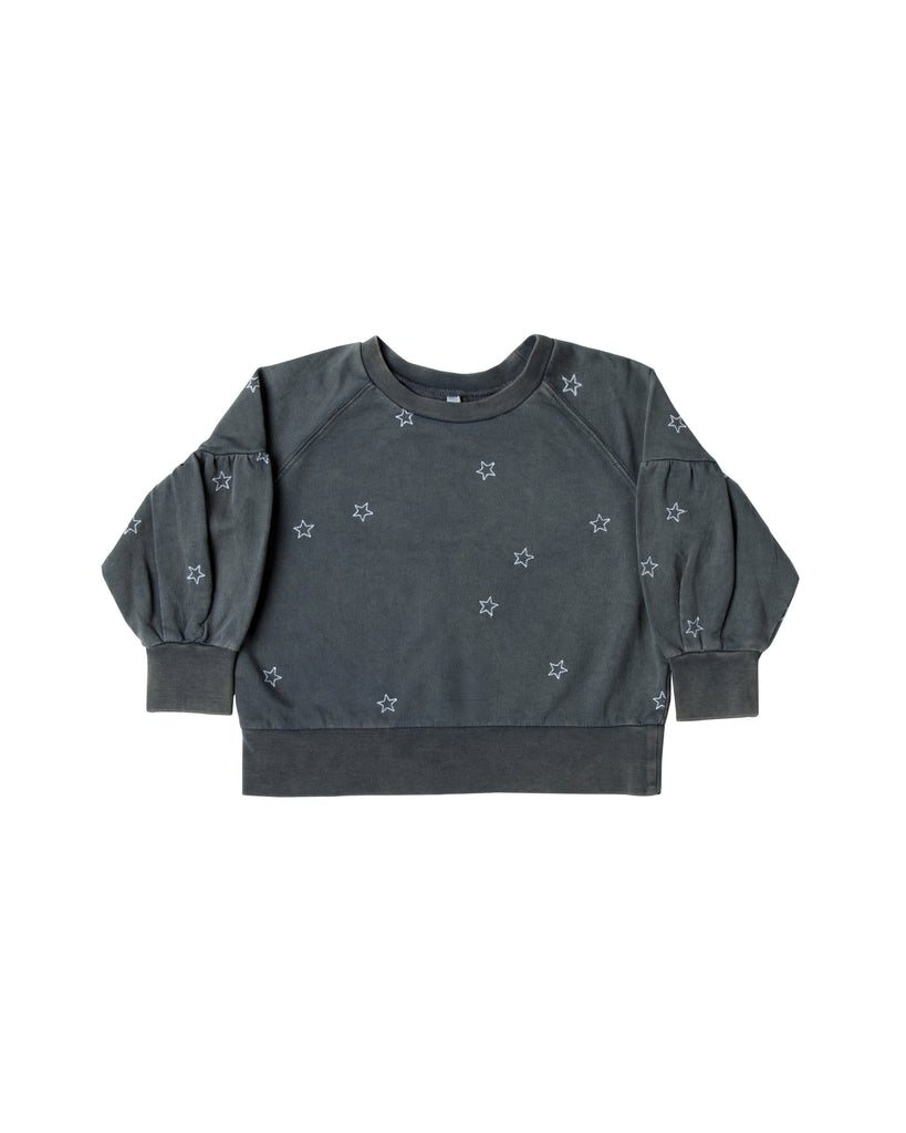 Rylee and Cru Puff Sleeve Sweatshirt - Stars
