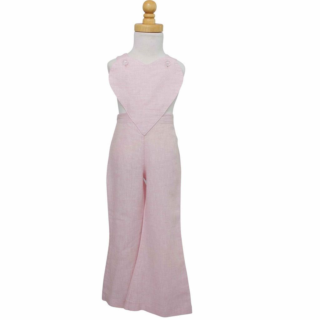 PAUSH Heart Overalls - Powder Pink