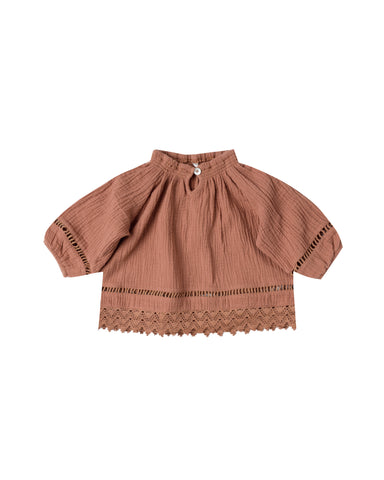Rylee and Cru Quincy Blouse - Passionfruit