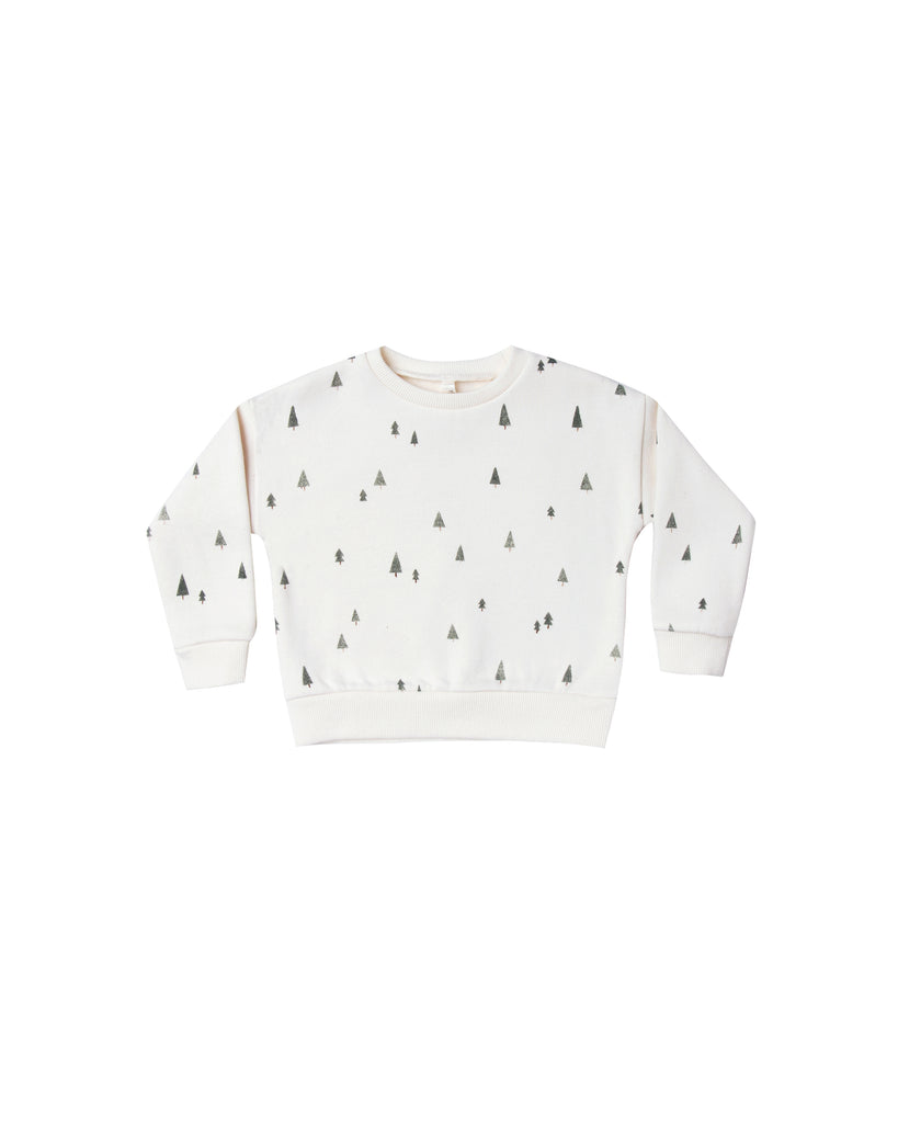 Rylee and Cru Relaxed Sweatshirt - Trees