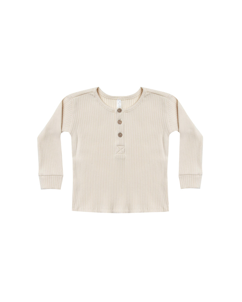 Rylee and Cru Ribbed Henley - Ivory