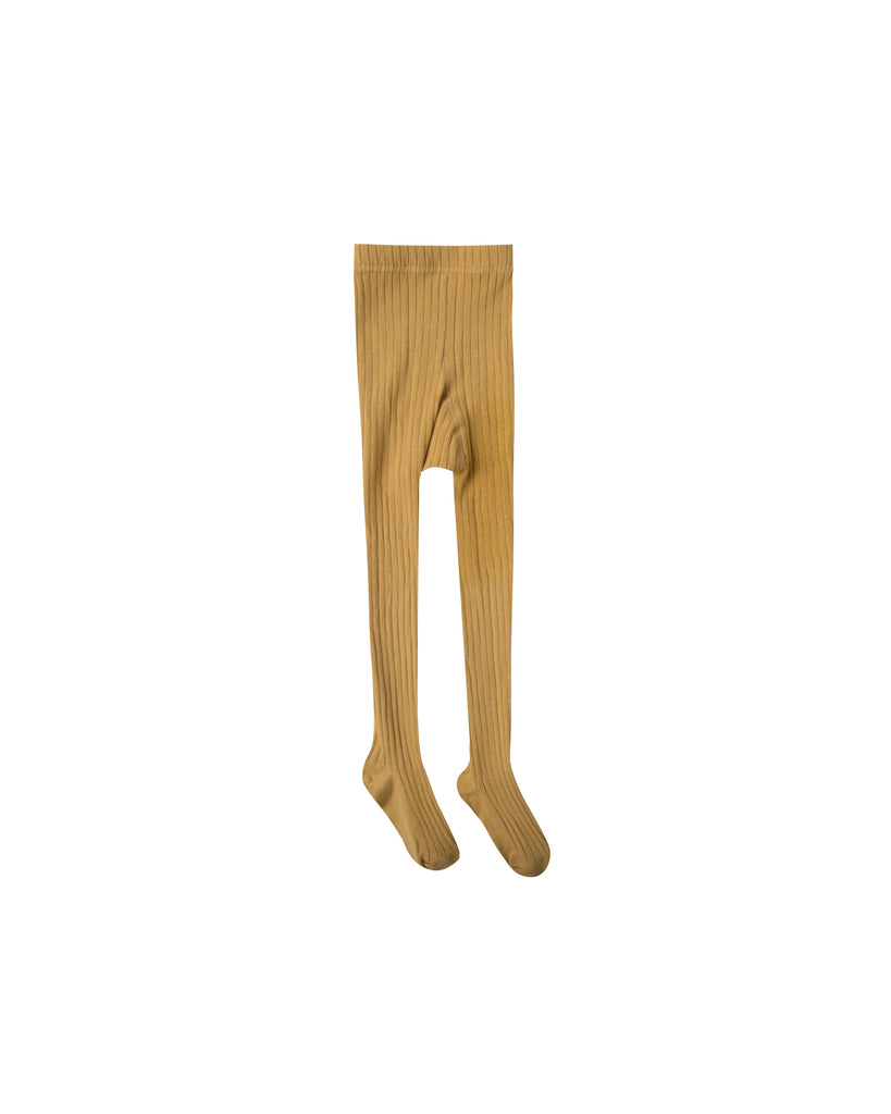 Rylee and Cru Ribbed Tights - Marigold