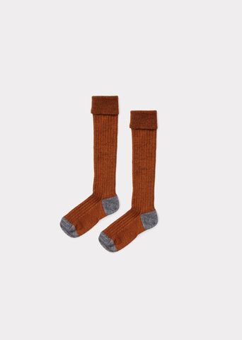 CARAMEL Knee High Socks - Chestnut
