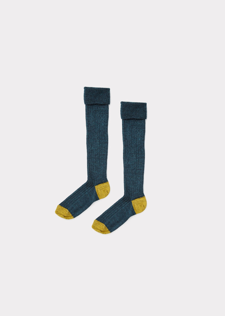 CARAMEL Knee High Socks - Petrole