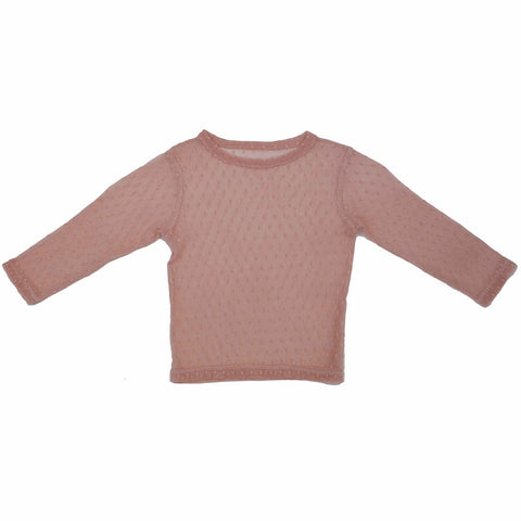 PAUSH Mesh Long Sleeve Top - Rose