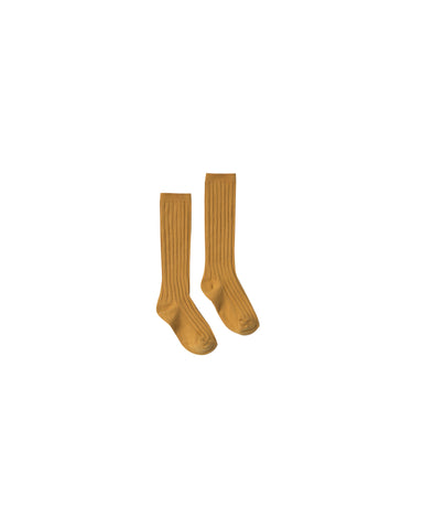 Rylee and Cru Ribbed Ribbed Knee Socks - Marigold