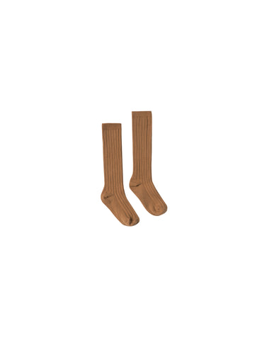 Rylee and Cru Ribbed Ribbed Knee Socks - Saddle