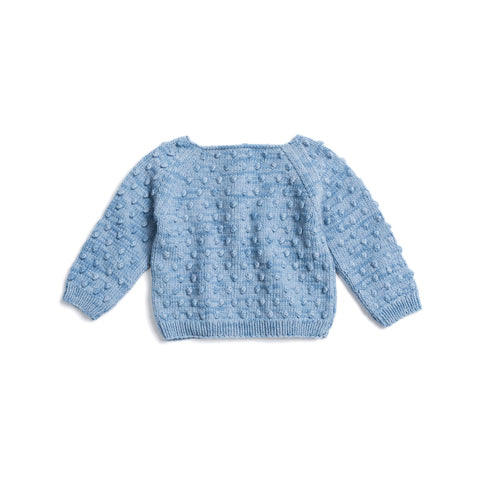Misha & Puff Summer Popcorn Sweater - Sky