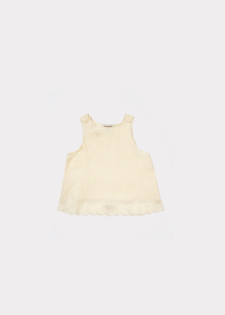 CARAMEL Tuz Baby Top - Pale Yellow