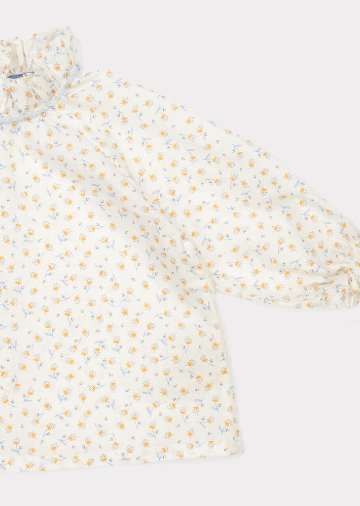 CARAMEL Urmia Baby Blouse - Orange Floral