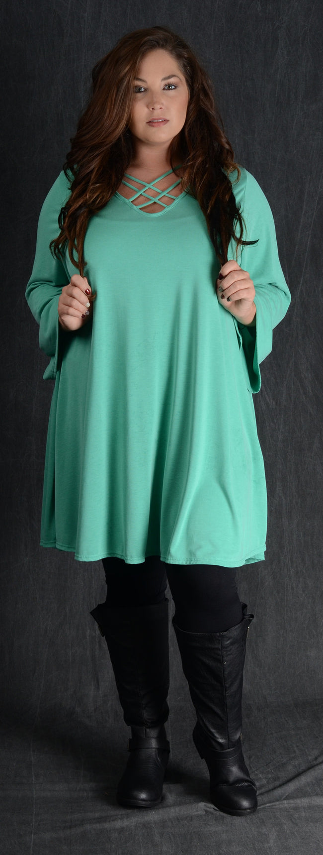 Mint Swing Corset Dress - www.mycurvystore.com - Curvy Boutique - Plus Size