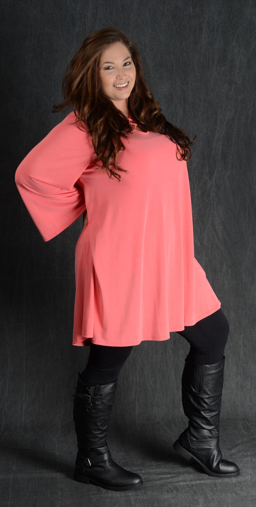 Coral Swing Corset Dress - Curvy Plus Size Boutique - 1