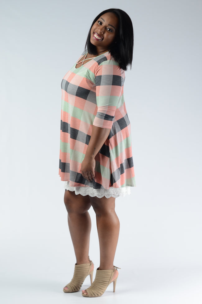 Lace Hem Dress/Tunic Extender - www.mycurvystore.com - Curvy Boutique - Plus Size