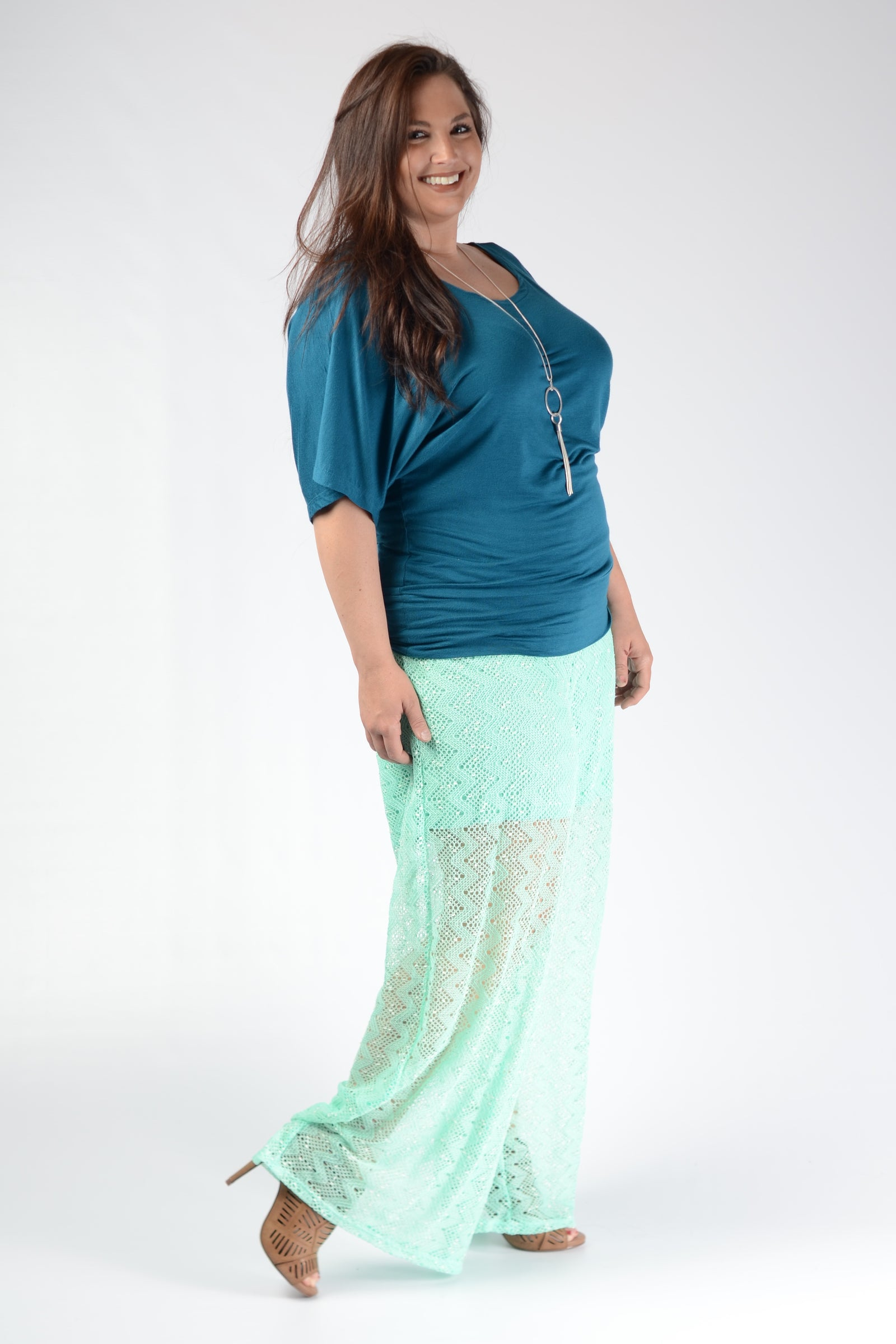 Mint Lace Pants - www.mycurvystore.com - Curvy Boutique - Plus Size
